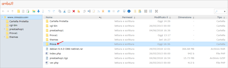 File Manager: restoring file and folders from backup | Guide hosting