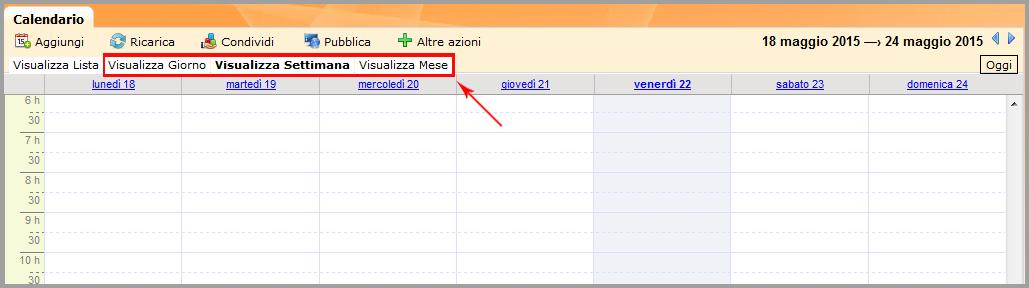 Visualizza Calendario.Gestire Il Calendario Guide Hosting Aruba It